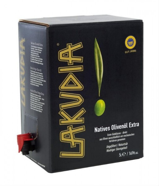 Lakudia 5 Liter Olivenöl Nativ Extra, Bag in Box