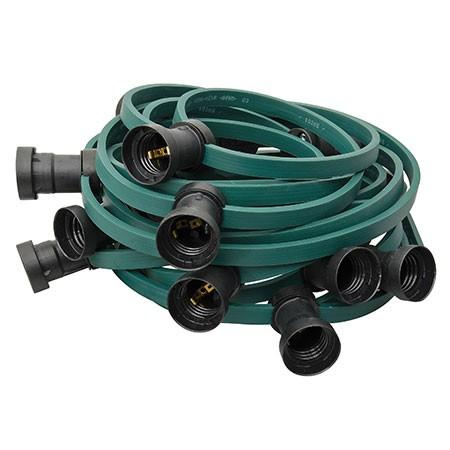 ILLU Lichterkette grün - 100 Meter Installations-Rohware - E27 Fassungen alle 50cm