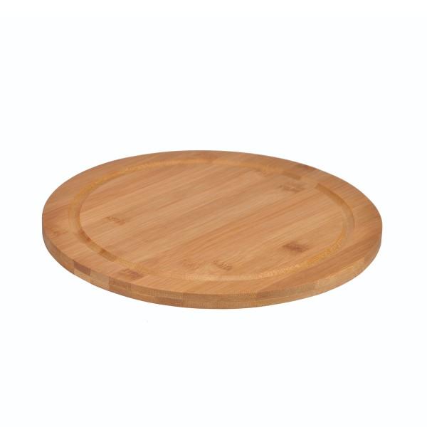 Schinkenteller - Bambus - rund - D: 25cm - hell