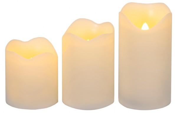 LED-Kerze   Wave   flackernde LED   3er Set