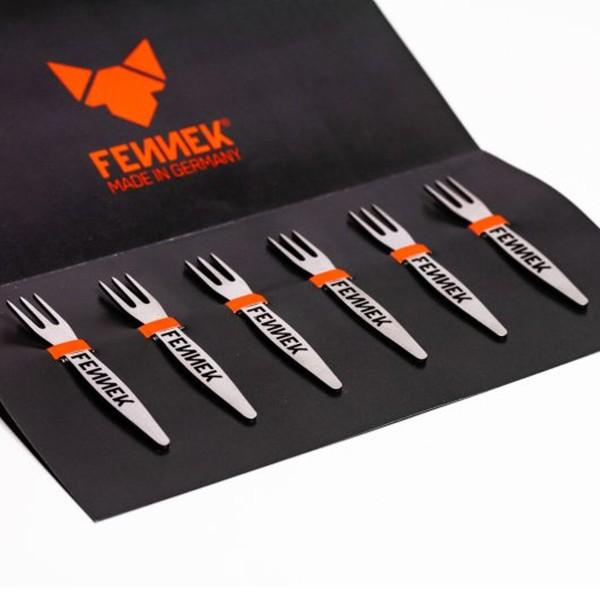 FENNEK Pieker - 6er Set Gabeln aus Edelstahl - 7,3cm lang - MADE IN GERMANY