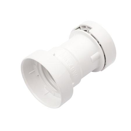 ILLU Fassung E-27 Schraubgewinde - weiß - max 40W für H05RNH2-F1,5 und 2,5 - für Flachkabel