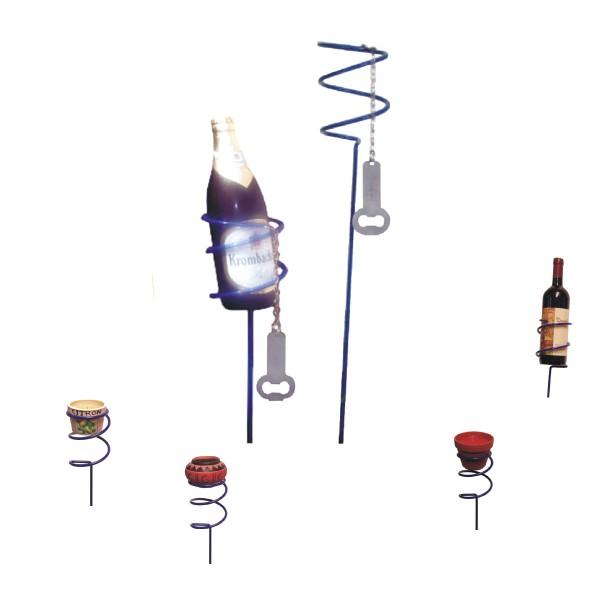 Bierflaschenhalter SPIRAL - inkl. Flaschenöffner - 100cm