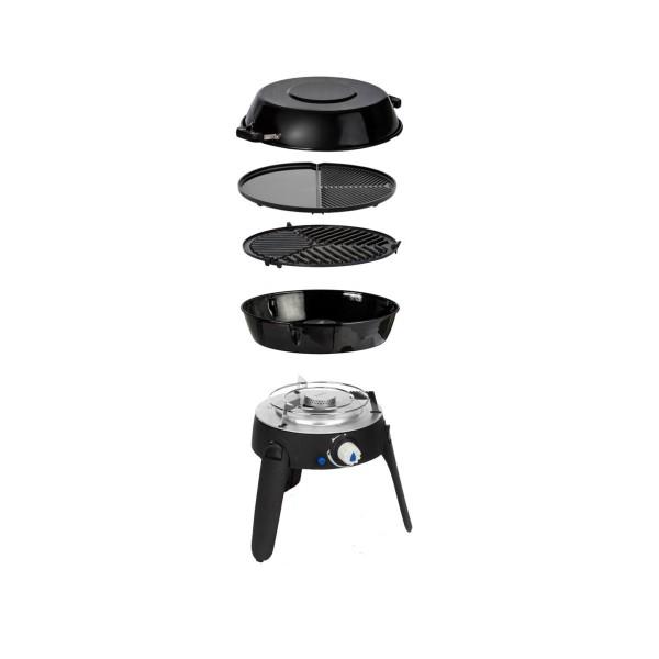 CADAC SAFARI CHEF 2 BBQ2BRAAI plus- 50mBar - (Topfständer, Grillrost, Grillplatte, Pfanne/Deckel)