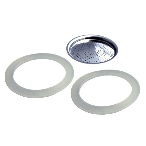 2 Dichtungsringe/ 1 Filter für GEFU EMILIO Espressobereiter 4 Tassen (16150)