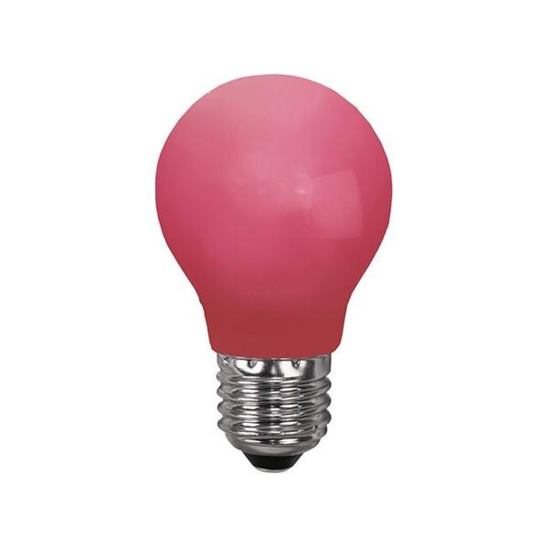 LED Leuchtmittel DEKOPARTY rot - E27 - 0,9W LED - schlagfestes Polycarbonatgehäuse