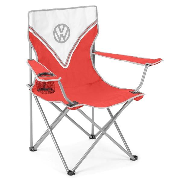 VW Collection - VW T1 Bus Campingstuhl rot - faltbarer Stahlrahmen - max 100kg