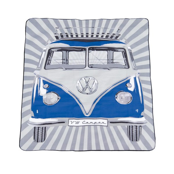 Picknickdecke VW Bulli T1 blau - 200x150cm - Tragetasche