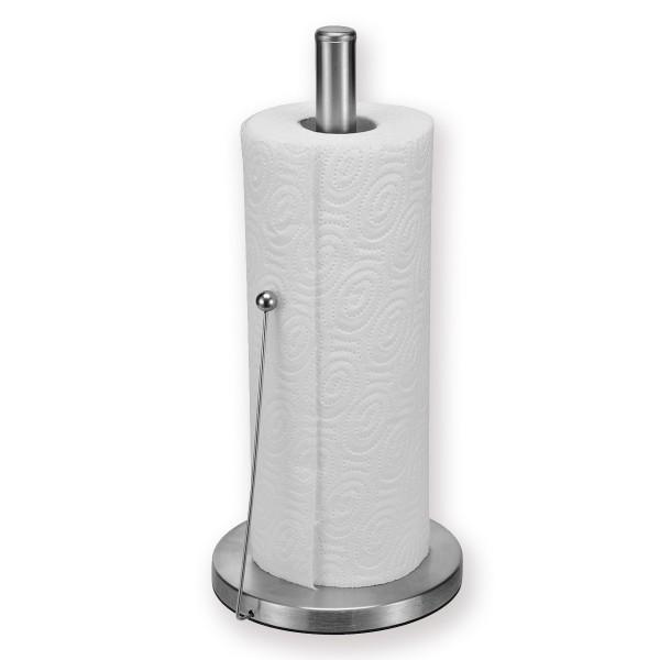Küchenrollenhalter aus Edelstahl - mit Druckstab - 32,5cm - universell