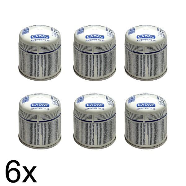 6 x CADAC 190g Stech Gas-Kartusche  (190g Butan-Propan-Gemisch) - Stechkartusche EN417
