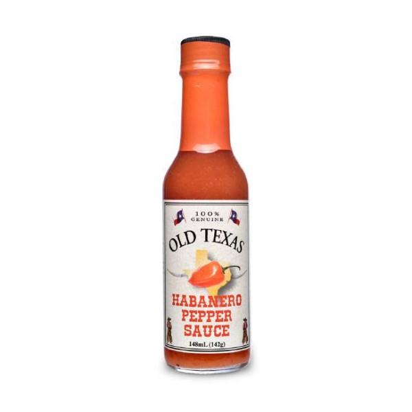 Old Texas Habanero Pepper Sauce 148ml Feurig scharf mit fruchtiger Note