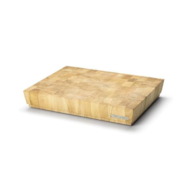 Hackblock groß, Stirnholz vom Gummibaum - 48 x 36 x 7,5cm