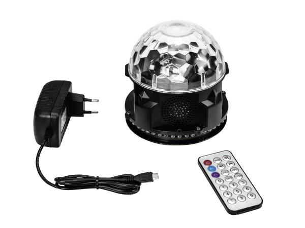 AKKU MINI BCW-4 RGB Pilzkopf mit Bluetooth Lautsprecher, USB und Fernbedienung