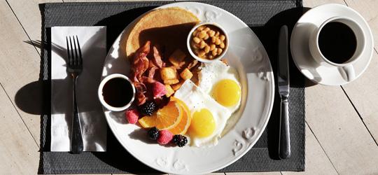 Frühstück vom Grill
