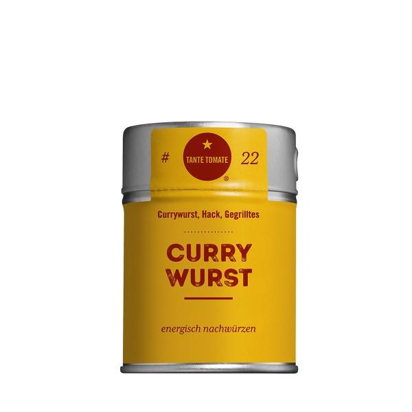 Curry Wurst - Gewürzzubereitung - Für Currywurst, Hack und Gegrilltes - 60g Streuer
