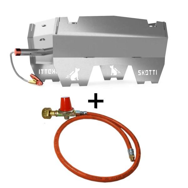 SKOTTI  - Premium Kompaktgrill + Anschluss KIT für Gasflasche
