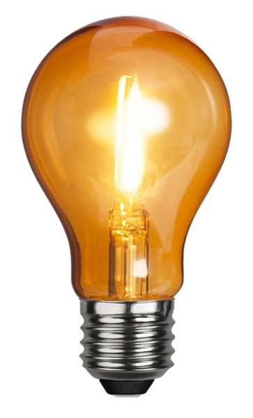 LED Leuchtmittel DEKOPARTY orange - klar - A60 - E27 - 1W - 45lm