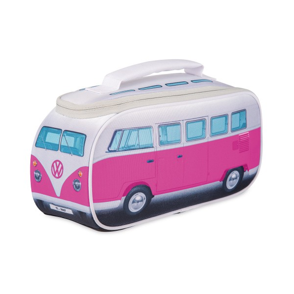 VW Collection - VW T1 Brotzeittasche PINK - 35x36x30cm - Isoliert & PU beschichtet