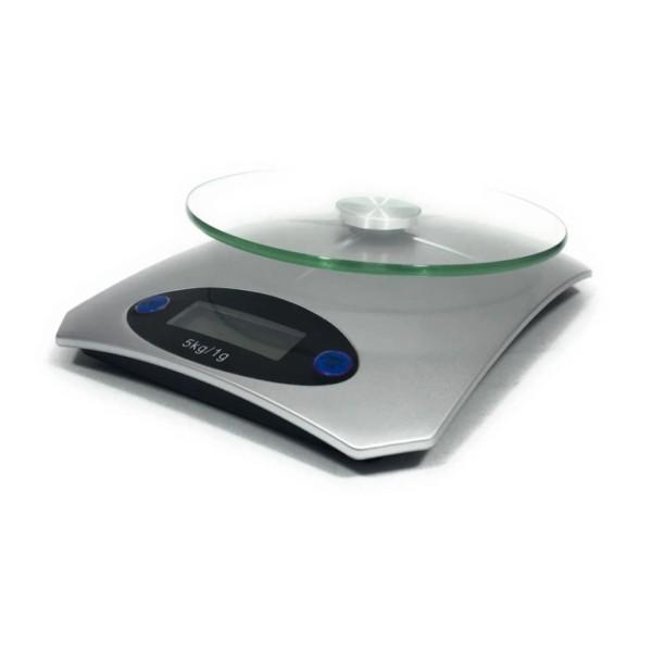 Digitale Küchenwaage - bis 5kg - Abschaltautomatik - Zuwiegefunktion - 15 x 20 x 4,5cm