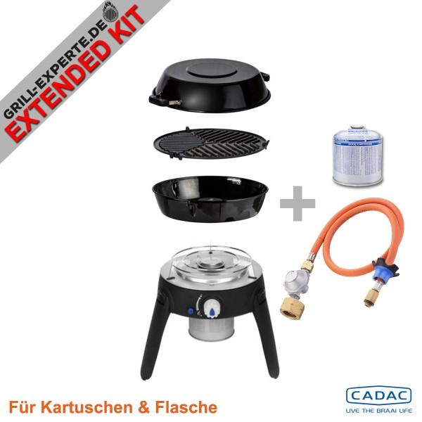 CADAC SAFARI CHEF 2 LITE HP EXTENDED KIT inkl. Flaschenadapter + Kartusche