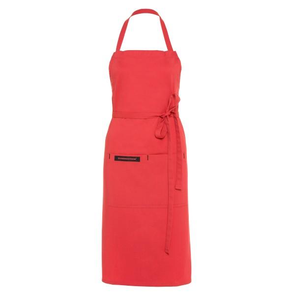 Feuermeisterin Premium Textil Back- und Kochschürze Rot  mit 2 Taschen