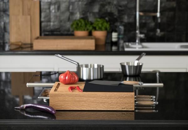 Jack & Lucy - Workstation ONE Extra Large - 75x40cm - integriertes Schneidebrett - Gastronorm Behälter