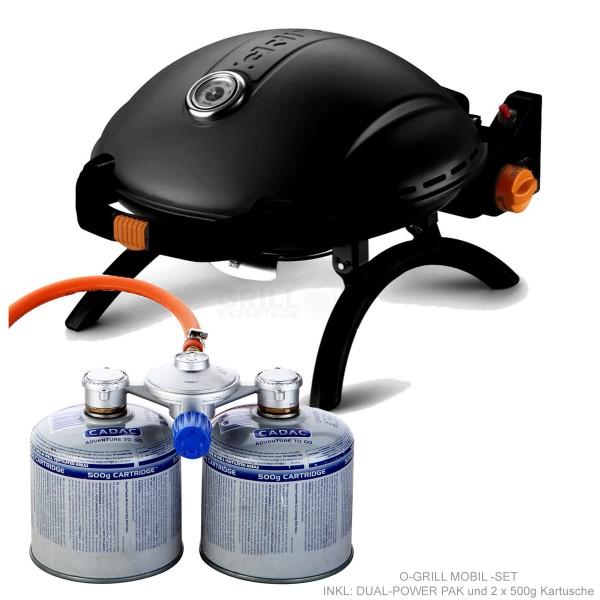 O-Grill LP 3000 - MOBIL-SET  Muschelgrill tragbar - inkl. Gas POWER PAK
