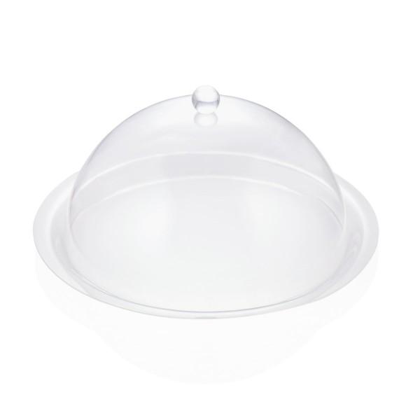 Abdeckhaube rund - transparent 38cm - Acryl - ideal für Buffet und Gartentisch