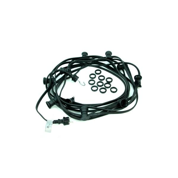 ILLU-Lichterkette 10m - 10xE27 | IP44 | ohne Leuchtmittel | SATISFIRE