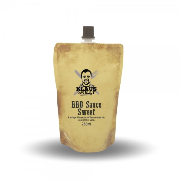 Klaus Grillt BBQ Sauce Sweet 250ml Beutel