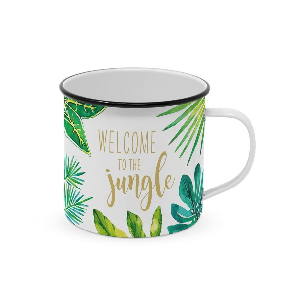 """Metallbecher """"Welcome to the jungle"""" - 400ml Campingbecher"""