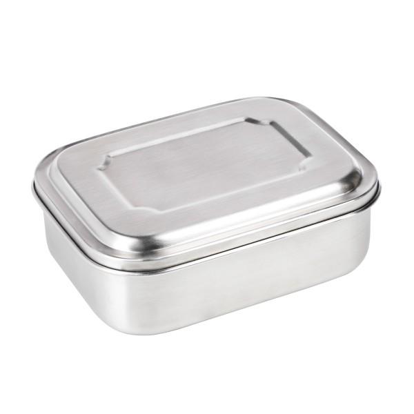 Lunchbox aus Edelstahl - 800ml Fassung - 17,2 x 13,4 x 6cm