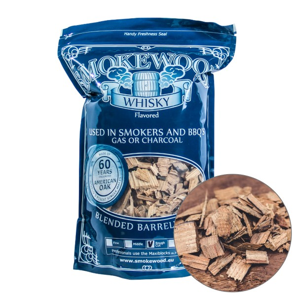 Smokewood Whisky Rough Cut - Räucherholz aus alten Whiskyfässern