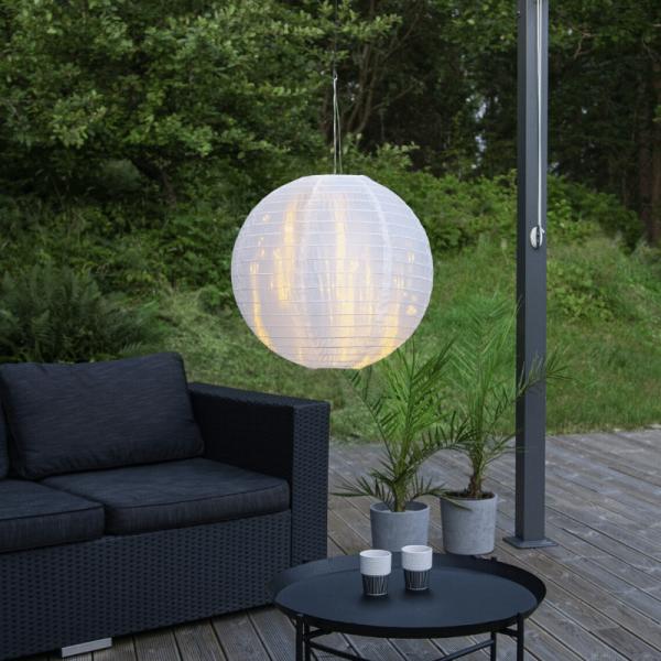 Lampion aus Papier - weiß - D: 40cm - für Hängefassungen oder Lichterketten - outdoor