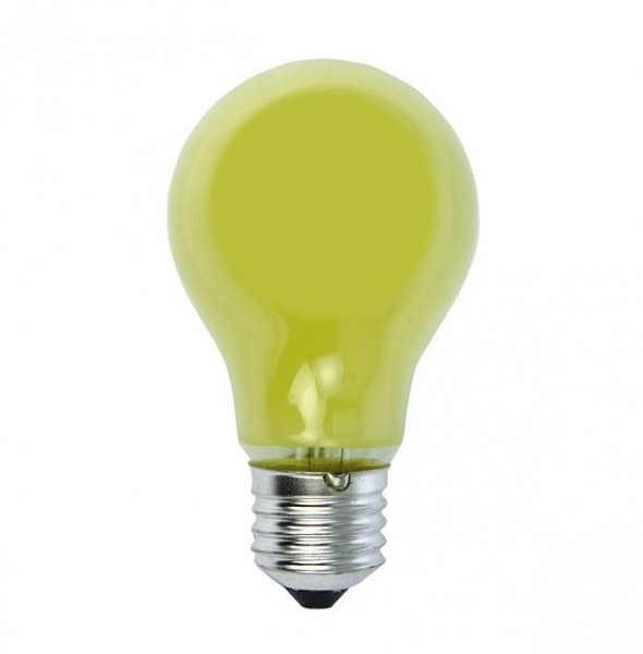 Glühlampe Tropfenlampe - Heitronic A19 - E27 - 25W - Gelb