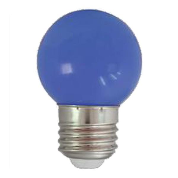 LED-Leuchtmittel   G45 - E27   1W   Blau