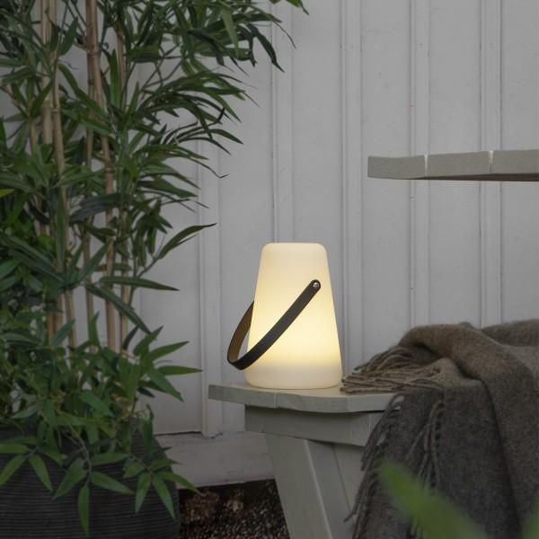"""LED Dekoleuchte/Laterne """"Linterna"""" - warmweiße LED - H: 20cm - Batterie - Timer - outdoor"""
