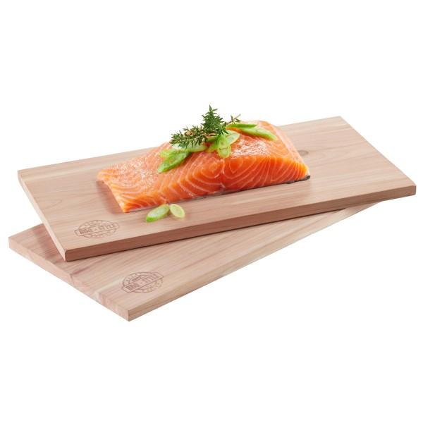 Zedernholz Planken 2 Stück - 30x15cm - Für herrliches Raucharoma - Grillbretter