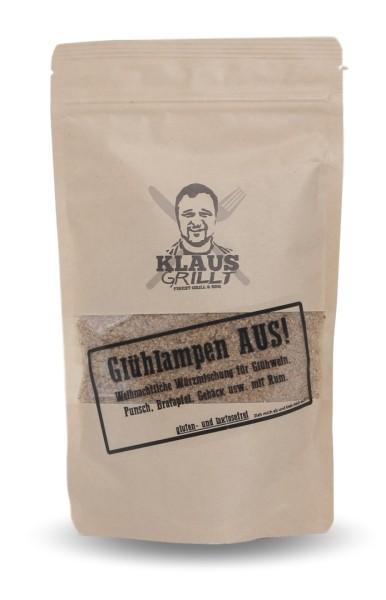 Klaus Grillt Glühlampen AUS! 250g Beutel mit 2% Rum