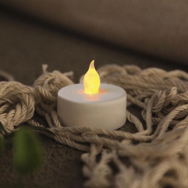 """LED Teelicht """"Paulo"""" - warmweiße flackernde Flamme - Batteriebetrieb - H: 4cm - 2er Set"""