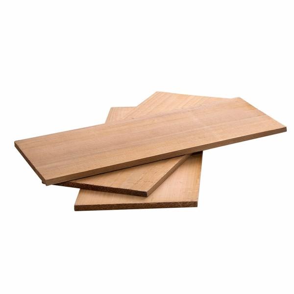 Zedernholz Planken 3 Stück - 30x13x1cm - Für herrliches Raucharoma - Grillbretter