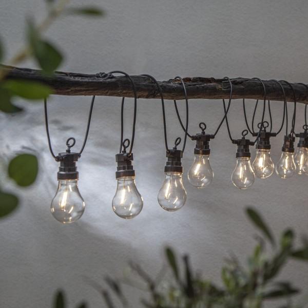 "LED Lichterkette ""Circus Filament"" - 10 Birnen - warmweiße Filament LED - 4,05m - Trafo - outdoor"
