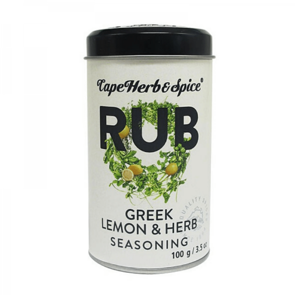 Cape Herb & Spice Rub Greek Lemon & Herb - 100g Gewürzsalz mit Oregano & Zitronenaroma