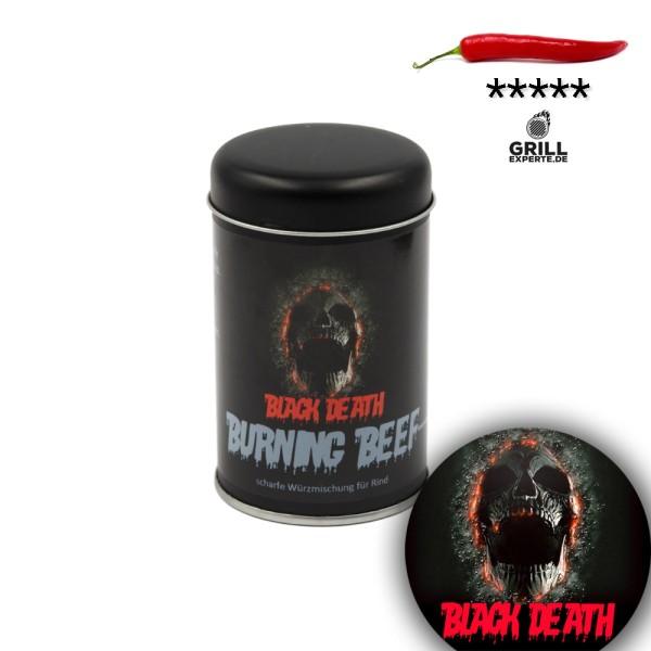 BLACK DEATH - BURNING BEEF sehr scharfe Gewürzmischung - 120g Streuer