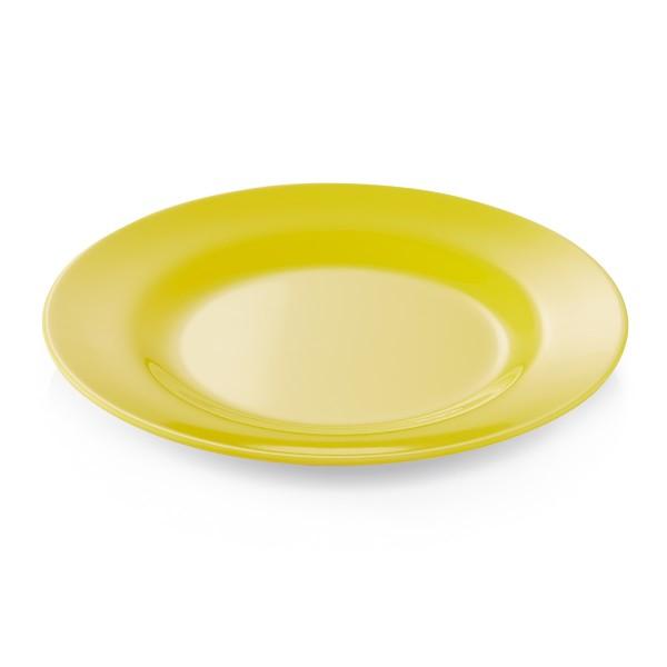 Campingteller SUMMER - Melamin - 20cm flach - gelb