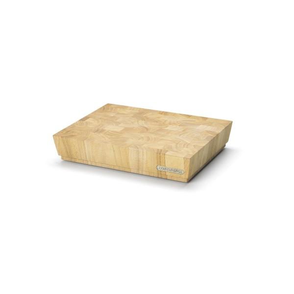 Hackblock klein, Stirnholz vom Gummibaum - 40 x 30 x 7,5cm