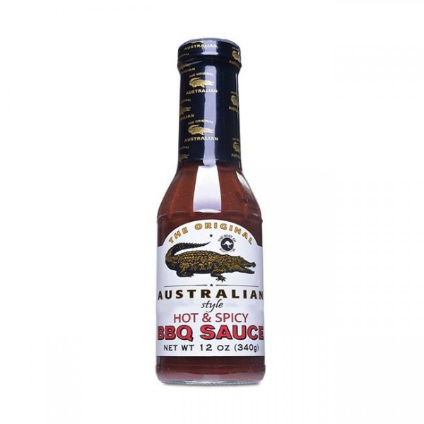 The Original Australian Hot & Spicy BBQ Sauce 355ml scharf mit rauchiger Note