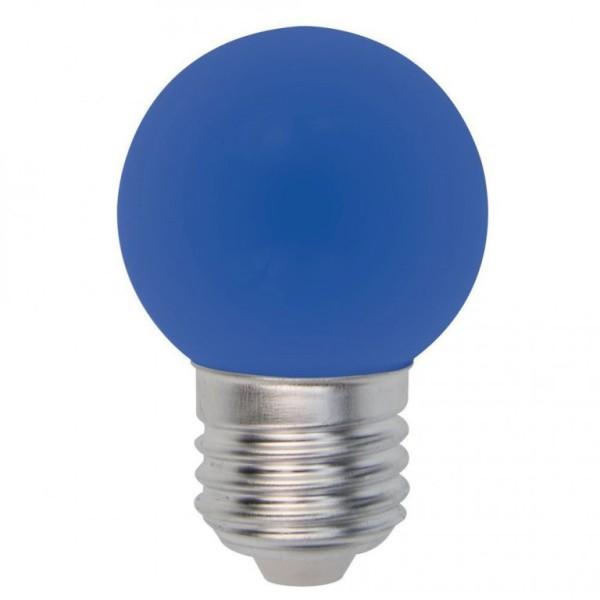 LED-Leuchtmittel - EEK: B - Round Line - E27 - 1W LED - Blau