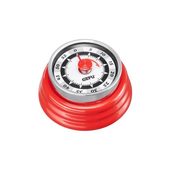 Küchentimer Kurzzeitmesser RETRO rot - mechanisch - magnetisch
