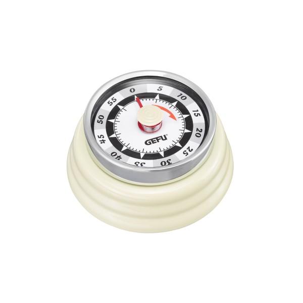Küchentimer Kurzzeitmesser RETRO creme-weiss - mechanisch - magnetisch